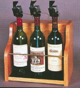 "the ""vintner"" 3 bottle winekeer gas dispensing system"