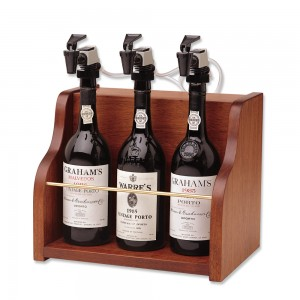 the vintner 3 bottle winekeeper system - mahogany