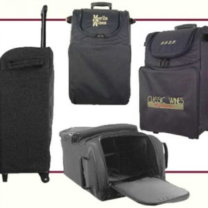 wine-on-wheels carriers totes